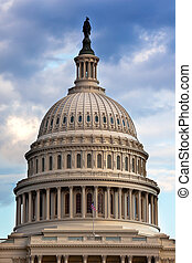 合衆国州議事堂, ドーム, 家, の, 議会, washington d.c.