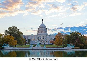 合衆国州議事堂, 中に, 秋, 色