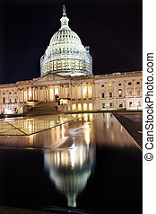 合衆国州議事堂, 北, 側, 建設, 夜, 星, washington d.c., ref
