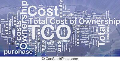 合計, 概念, コスト, 背景, 所有権