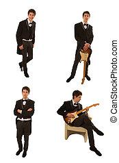 吉他手, 在, 衣服