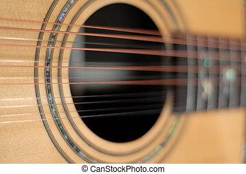 吉他, 十二排成一列