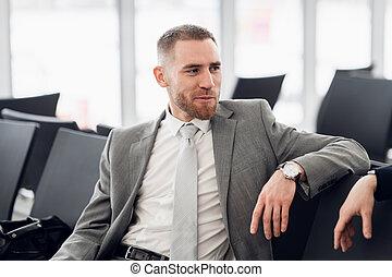 同僚, ビジネス, ビジネスマン, plan., 新しい, 論じる, 幸せ