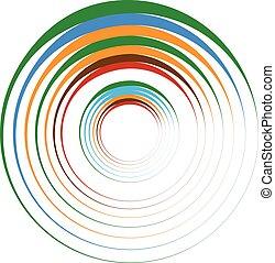 同心円, rings., suitable, ∥ように∥, ∥, 抽象的なデザイン, 要素, 装飾的な要素,...
