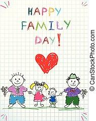 同性愛, 娘, 家族, お父さん, 2, 息子, 幸せ