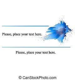 名刺, blue.