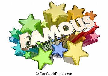名声, イラスト, でき事, 有名, vip, 星, 名声, 3d