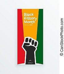 名誉を与えること, 握りこぶし, 自由, 思い出しなさい, でき事, 旗, 歴史, 上げられた, diaspora, アフリカ, 月, シンボル, 人々, 黒, concept., 定着する, 重要, テンプレート, 民族性, equality., あなたの