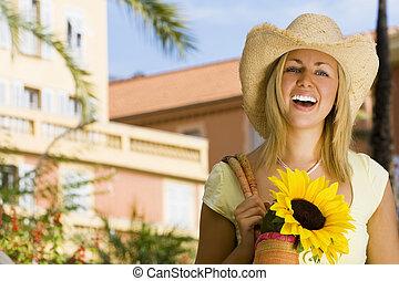 向日葵, 微笑