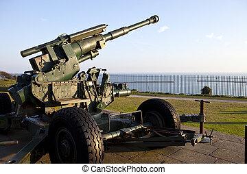 向着, ww2, 指, 炮兵, 英吉利海峡, 多佛