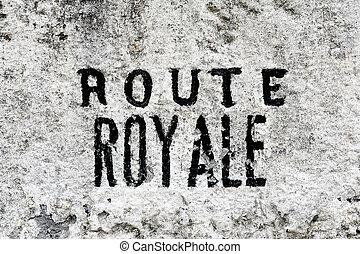 君主制, デートする, フランス語, マイル標石