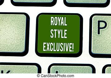 君主, スタイル, ファッション, 写真, idea., キーパッド, テキスト, 作成しなさい, 皇族, 印, ...