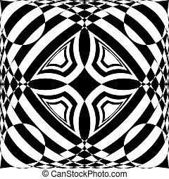 否定的なスペース, 抽象的, のように, tridimensional, 天井, アラベスク, 印象