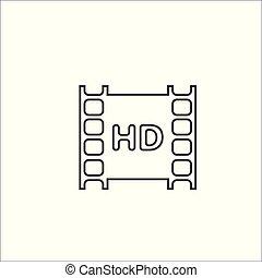 否定的, フィルム, icon., カメラ, hd