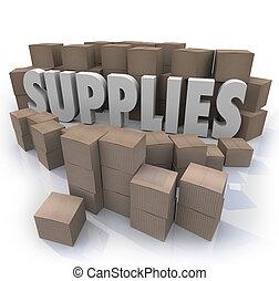 含んでいること, フルである, 単語, 部屋, 中央, 材料, 食物, needed, 箱, 他, 予備, 配給量, 供給, ボール紙, 資源, 株