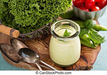 含奶油, 鱷梨, 絕對素食者, 調味汁