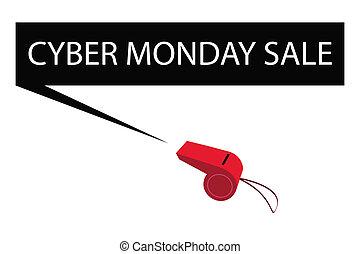 吹く, 月曜日, cyber, 笛, 旗, 赤