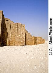 周囲, 壁, ステップ, ピラミッド, djoser