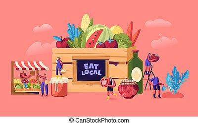 味が良い, なしで, 食物, 特徴, 食べなさい, concept., 有機体である, 健康, ベクトル, マレ, ...