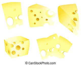 味が良い, セット, 黄色, チーズ