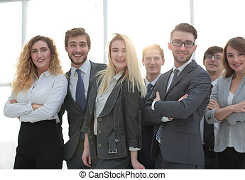 味方, closeup., team., ビジネス