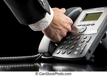 呼出しをすること, landline, ビジネスマン