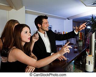 命令, バー, 飲み物