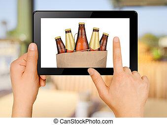 命令, ビール, を経て, インターネット