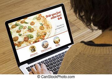 命令, 食物, 女, コンピュータ