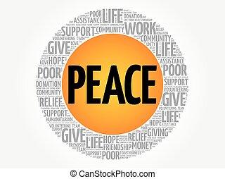 和平, 詞, 雲, 拼貼藝術