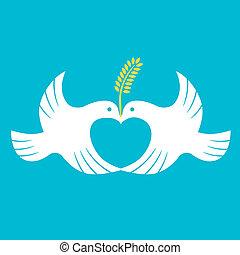 和平, 鴿