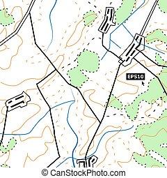 和解, 地図, グラフィック, colour., ベクトル, contours., 概念, 地図作成, 救助, 背景, ...