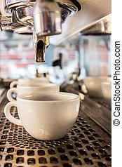 咖啡机器, 做, 浓咖啡, .