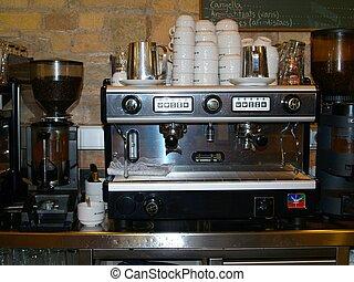 咖啡机器, 在中, 咖啡馆, 在中, vic