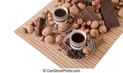 咖啡茶杯, 巧克力