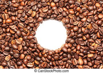 咖啡豆, 剝去, 由于, 模仿空間