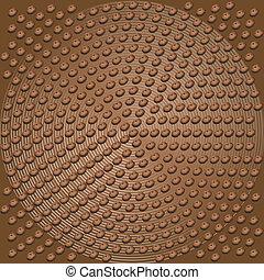 咖啡豆, 矢量, 背景