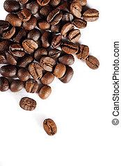 咖啡豆, 被隔离, 在懷特上