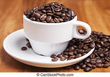 咖啡, 充足, 杯