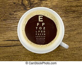 咖啡, 在, the, 光學儀器商
