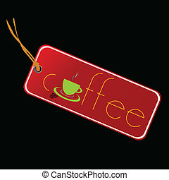 咖啡, 矢量, 插圖, 標簽