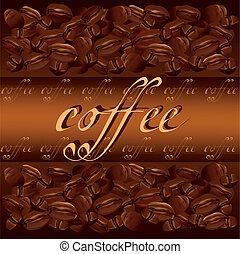 咖啡, 背景, 矢量