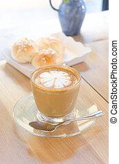 咖啡, 藝術, 杯子, 木制,  latte, 背景