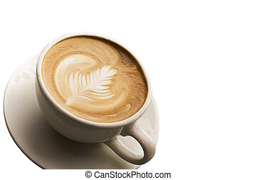 咖啡,  latte, 藝術, 背景, 杯子