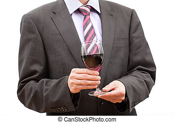 品嘗, 酒精, -, 人, 由于, 杯酒