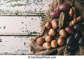 品種, ......的, 未加工, 土豆