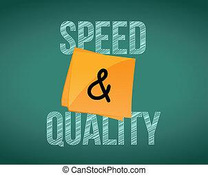 品質, スピード, デザイン, イラスト