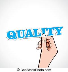 品質, 単語, 手