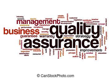 品質, 概念, 単語, 保証, 雲