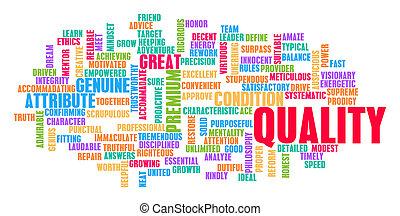 品質, 概念, 単語, 雲